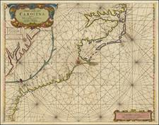 Caerte vande Cust Carolina Tusschen B. de S. Matheo en C. Henry . . . 1687 By Jacobus Robijn