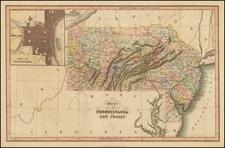 Mid-Atlantic Map By Hinton, Simpkin & Marshall
