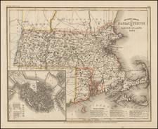 Massachusetts and Rhode Island Map By Joseph Meyer