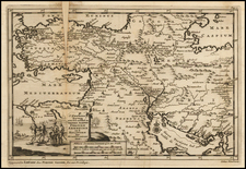 Turkey, Mediterranean, Middle East and Turkey & Asia Minor Map By Pieter van der Aa
