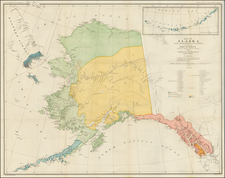 Alaska Map By Julius Bien & Co.