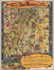 Southwest Map By Wilfred Stedman