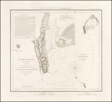 (Thick Paper Presentation Copy!) San Diego Entrance and Approaches . . . 1853 By U.S. Coast Survey