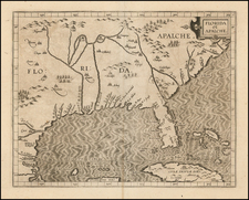 Florida, Southeast, Texas and Caribbean Map By Cornelis van Wytfliet