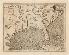Florida, Southeast, Texas and Caribbean Map By Cornelis van Wytfliet