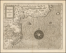 New England, Mid-Atlantic and Canada Map By Cornelis van Wytfliet