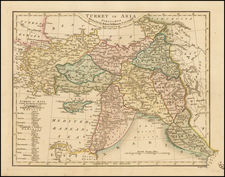 Middle East and Turkey & Asia Minor Map By Robert Wilkinson