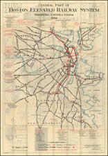 New England, Massachusetts and Boston Map By Boston Elevated Railway Co. / Arthur Leslie Plimpton
