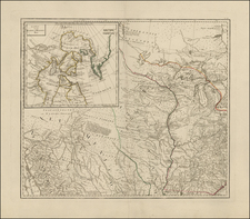 South, Southeast, Midwest, Plains, Rocky Mountains and Canada Map By Franz Anton Schraembl