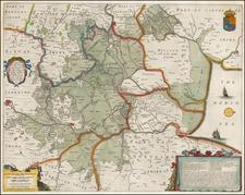 British Isles and British Counties Map By Henricus Hondius