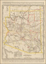 Southwest and Arizona Map By George F. Cram