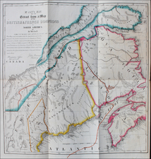 New England and Canada Map By Endicott & Co.