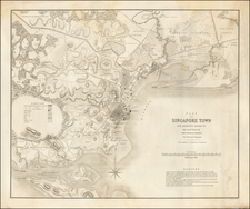 Southeast Asia and Singapore Map By John Turnbull Thomson