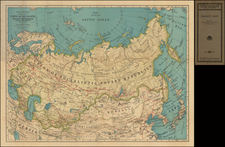 Russia and Russia in Asia Map By Rand McNally & Company