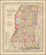 South and Mississippi Map By Charles Desilver