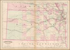 Midwest, Plains and Kansas Map By Asher  &  Adams