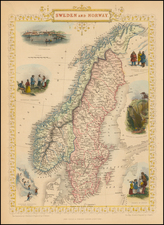 Scandinavia Map By John Tallis