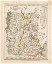 New Hampshire and Vermont Map By Joseph Meyer
