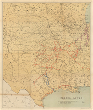 Texas, Midwest, Plains and Southwest Map By Anonymous