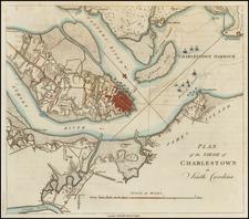 Southeast and South Carolina Map By Banastre Tarleton