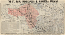 Midwest, Plains and Canada Map By Rand McNally & Company