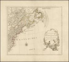United States, New England and North America Map By Franz Anton Schraembl