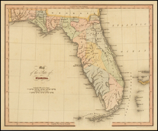 Florida Map By Hinton, Simpkin & Marshall