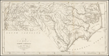 North Carolina Map By John Stockdale