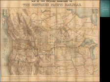 Midwest, Plains, Southwest, Rocky Mountains, California and Canada Map By Edward H. Knight