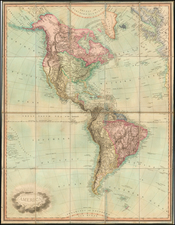South America and America Map By James Whittle  &  Robert Laurie