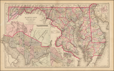 Mid-Atlantic, Maryland and Delaware Map By Frank A. Gray