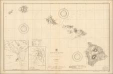 Hawaii and Hawaii Map By U.S. Coast & Geodetic Survey