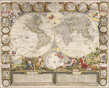 World and World Map By Jean-Baptiste Nolin / Jean-Baptiste Crepy