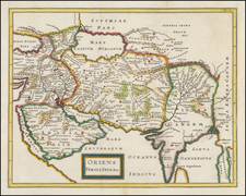 India, Southeast Asia, Central Asia & Caucasus and Middle East Map By Christoph Cellarius