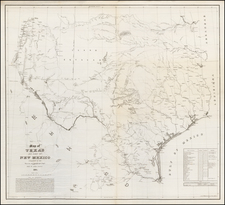 Texas and Plains Map By United States Bureau of Topographical Engineers