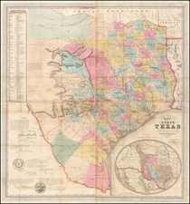 Texas Map By Jacob De Cordova