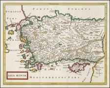 Turkey, Mediterranean and Turkey & Asia Minor Map By Christoph Cellarius