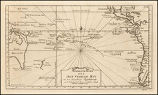 Pacific and Australia Map By Jacques Nicolas Bellin