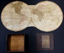 World and Curiosities Map By John Wallis