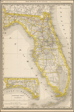 Florida Map By William Rand  &  Andrew McNally