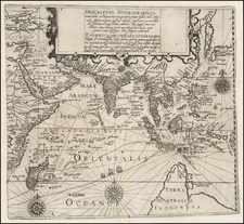 Indian Ocean, China, Korea, India, Southeast Asia, Other Islands, Central Asia & Caucasus, Middle East, East Africa, African Islands, including Madagascar and Australia Map By Theodor De Bry