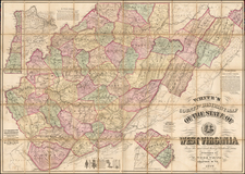 West Virginia Map By M. Wood White
