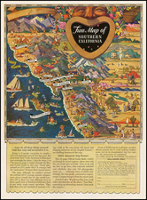 Pictorial Maps and California Map By Raymond Winters