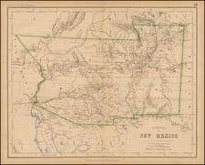 Southwest and Rocky Mountains Map By Henry Darwin Rogers  &  Alexander Keith Johnston