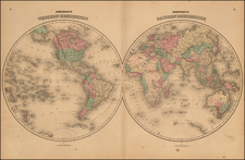 World and World Map By Alvin Jewett Johnson / Browning