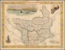 Balkans, Turkey, Balearic Islands and Greece Map By John Tallis