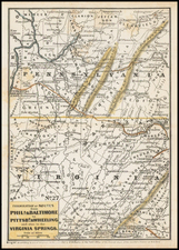 Pennsylvania, Virginia and Philadelphia Map By Anonymous
