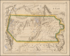 Southwest, Rocky Mountains and Utah Map By Henry Darwin Rogers  &  Alexander Keith Johnston