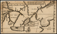 New England, Midwest and Canada Map By Baron de Lahontan