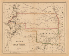 Texas, Plains, Southwest and Rocky Mountains Map By Henry Darwin Rogers  &  Alexander Keith Johnston